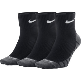 Nike Dry Lightweight Quarter Training Socks 3 Pair black/white